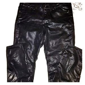 Vince Camuto Black Leather Jeans 30/10
